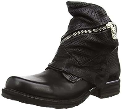 A.S.98 717291-0201-6002, Damen Biker Boots, Schwarz (Nero), 36 EU