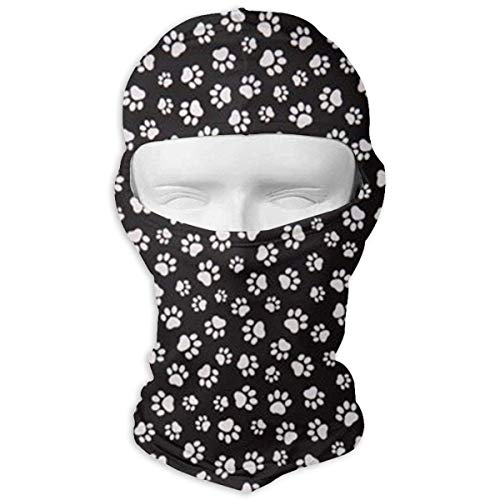 Miedhki Dog Paw Prints Outdoor Cycling Ski Balaclava Mask for Cycling Outdoor Sports Full Face Mask Breathable Multicolor9 Paw Prints Hoodie