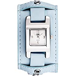 Clips Women's Quartz Watch with Grey Dial and Blue Leather Strap 553-1008-89