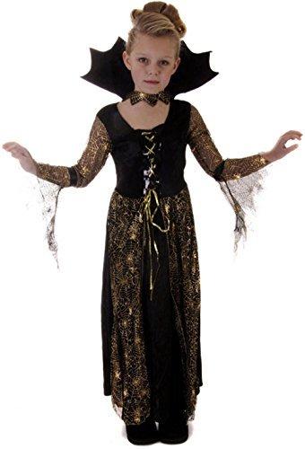 Childs Mädchen Spiderella Spinne Hexe Vampir Halloween Kostüm Ou VEX