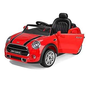 Toyrific TY6023RD - Mini Convertible en Coche eléctrico con Faros LED y conexión Mp3, Color Rojo (Producto con Enchufe de UK)