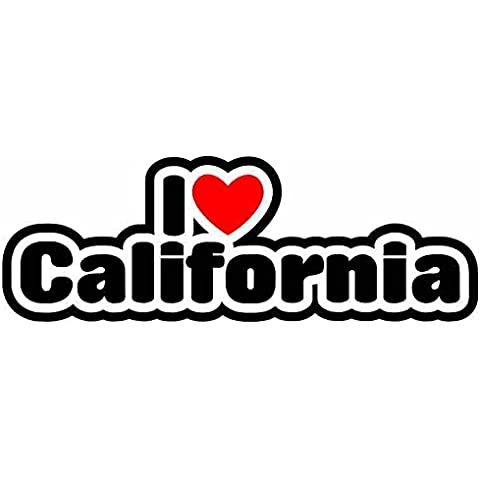 I Love California - American State - Auto Adesivi / Sticker For Car Bike Van Camper Bumper Sign
