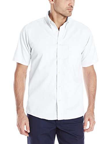 Red Kap Men's Easy CareDreShort Sleeve Shirt, White, Short Sleeve 2X-Large (Kap Red Shirt)