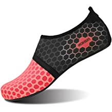 L-Run Zapatos de Agua Unisex Zapatos de Piel descalza para Run Dive Surf Swim