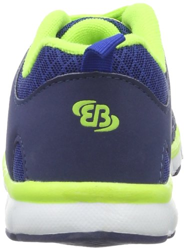 Brütting Spiridon Fit, Baskets Basses Garçon Bleu - Blau (marine/lemon)