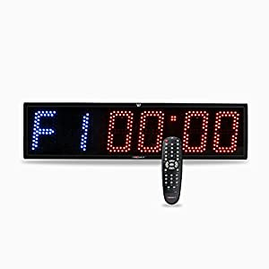 41pKvc%2BEkUL. SS300  - We R Sports® Crosfit Timer Programmable Crossfit Interval Wall Timer with Wireless Remote