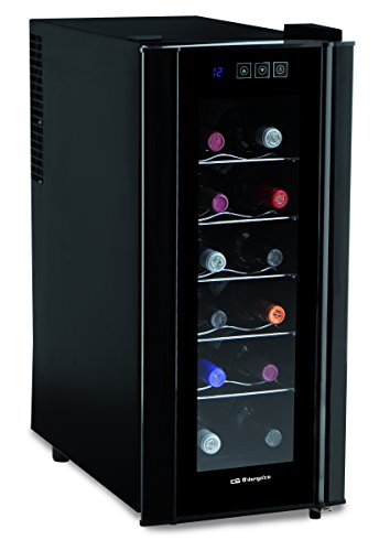 Orbegozo Vt1200 - Vinoteca para 12 botellas, 50W, 252 x 610 x 510 mm, electronico, color negro