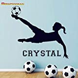 HNXDP Football Cristal Duvar Autocollant Décor De Chambre Vinyle Décoratif Stickers...