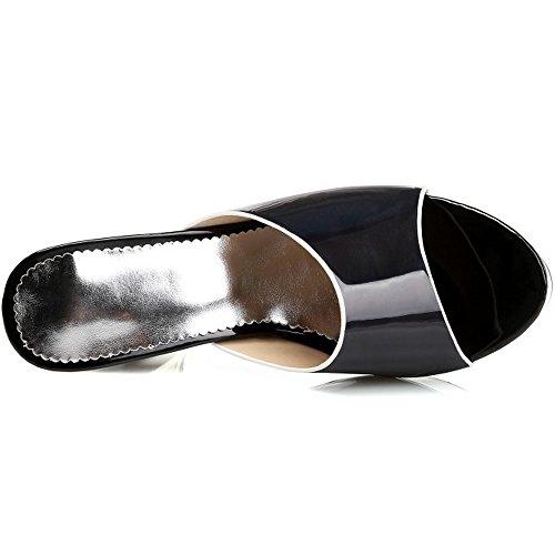 Messo Sandali Donna Nero Migliori Sera Scorrevole Sul Tacco Muli Blocco Taoffen Ha Elegante Da BtqHwnxx1g