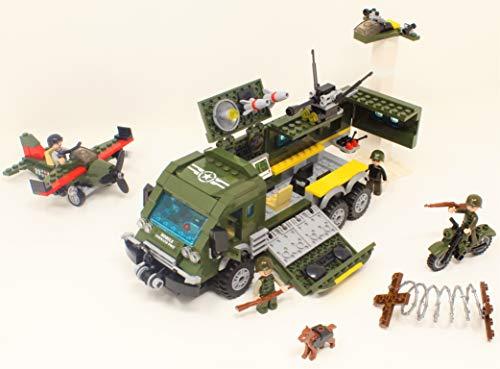 geniale Spielsachen Militär Intelligent Mobile Einheit & Flugzeug / 231 Teile BAU Blöcke Konstruktion Set #1709 Mobile Blöcke