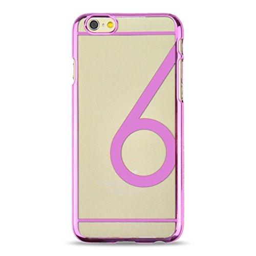 Für iPhone 6 / 6S Num 6 Muster Ultra-dünne Beschichtung Skinning Schutzhülle DEXING ( Color : Magenta ) Pink