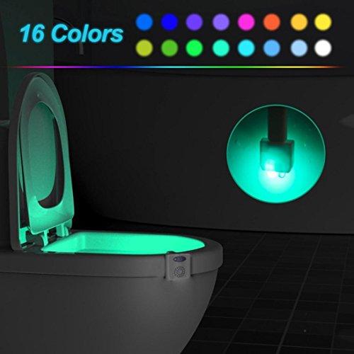 WC Nachtlicht, 16 Farbumwandlung Body Sensing Automatische WC-Nachtlampe, Upxiang LED-Motion-Sensor Bad Licht