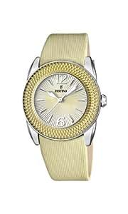 Festina - F16592/3 - Montre Femme - Quartz Analogique - Bracelet Plastique/Cuir Beige