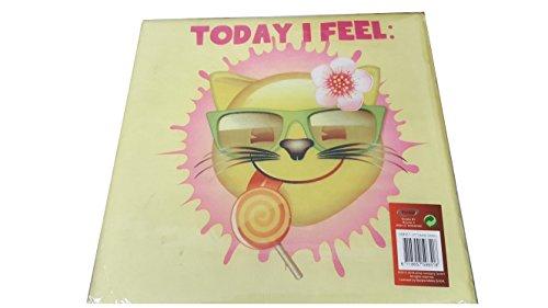 Emoji -Today I Feel - Hocker Aufbewahrungshocker Kinder 30x30x30 cm gelb/türkis