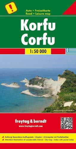 Korfu, Autokarte 1:50 000, Freytag Berndt Autokarten -