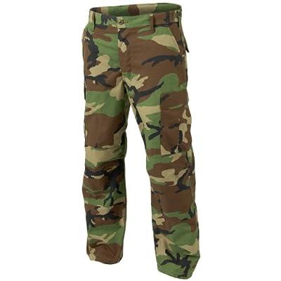 Helikon genuino BDU pantalones Polycotton Ripstop Woodland Tamaño M Largo