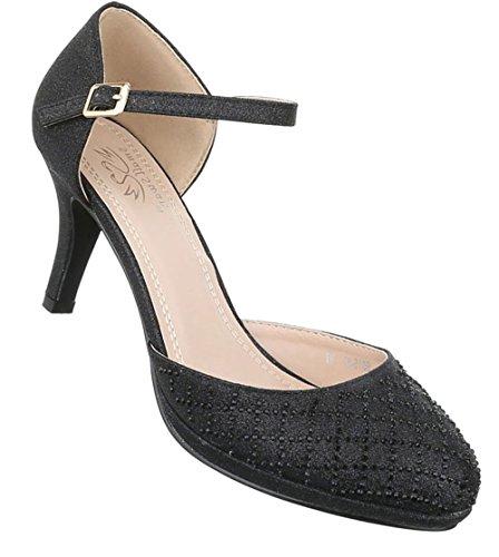 65ed71bb1233 Damen Pumps Schuhe High Heels Stöckelschuhe Stiletto Rot Rot Schwarz Gold  Silber Weiß 36 37 38