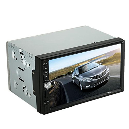 Car Stereo MP3 MP5 Radio Player - Kingwo Doppia 2 DIN autoradio MP3 MP5 Player radio Bluetooth AUX + USB Parcheggio Camera