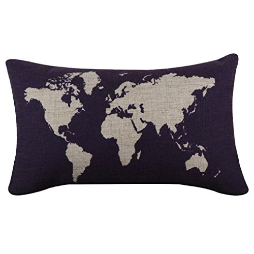culaterr-burlap-linen-world-map-decorative-cushion-cover-pillow-case-dark-blue