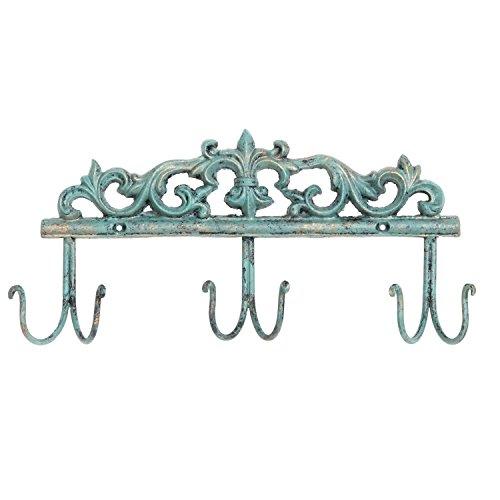 MyGift Vintage Stil Rustikal türkis Metall 6Haken Coat Rack/Wandmontage Diele Storage Haken (Storage Coat-rack)