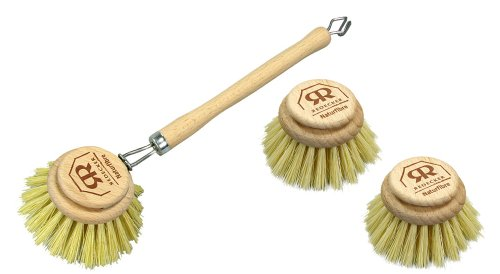 large-natural-bristle-dish-washing-brush-and-2-x-replacement-brush-heads-stiff-plant-fibre