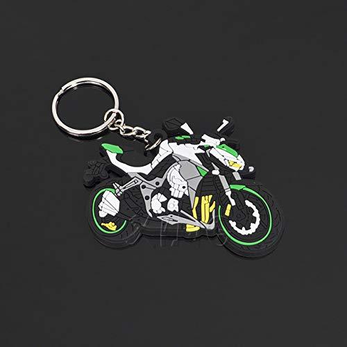 FASHLADY Modelo de la Motocicleta Llavero de Goma Llavero del Kawasaki Suzuki para Yamaha BMW Honda GSX-R VR Accesorios 46 Styling: 1