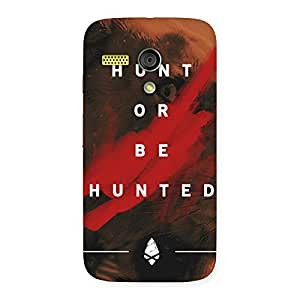 Special Hunted Multicolor Back Case Cover for Moto G