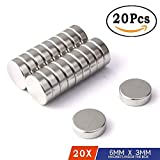 #8: SIFTY COLLECTIONS Nickle Coated Disc Magnets (6 x 3 MM)(20 Pieces)