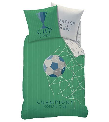 Fútbol Niños Juego de cama · Copa Cup & Champions Club · Red para portería Goal · Diseño reversible...