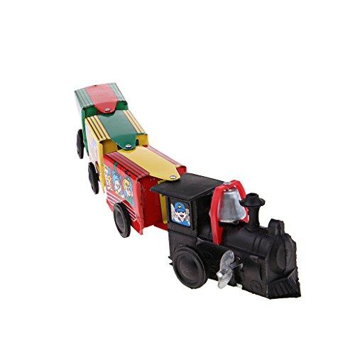 sharprepublic Klassischer Eisenzug Mit 3 Zugkabinen Uhrwerk Wind Up Kinder Zinn Spielzeug - Wind-up Spielzeug Zinn