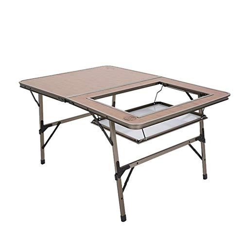 Vimele en Plein air Grand Bambou-Like Sauvage Table Pliante Portable en Aluminium Table Pliante Voiture Auto-Conduite Table de Pique-Nique Table Pliante Table Pliante
