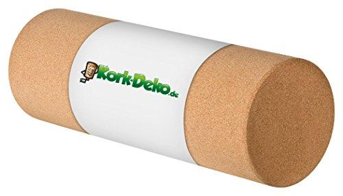 Faszienrolle aus Kork XL - Selbstmassage-Rolle für die Faszien - Fitnessrolle für Yoga Pilates Gymnastik Physiotherapie - Trainingsgerät zur Stärkung des Bindegewebes   45 cm lang, Durchmesser 15 cm