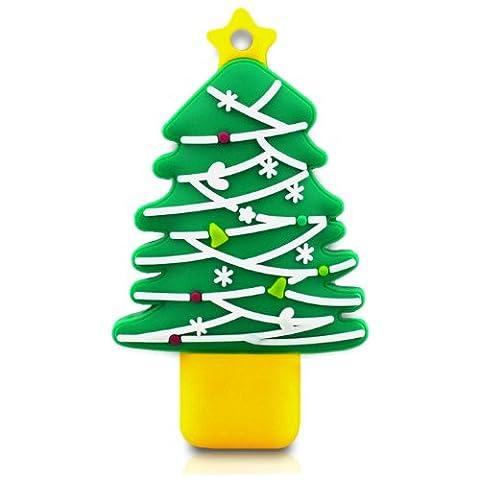 818-Shop No16300010002 Hi-Speed 2.0 USB-Sticks 2GB Weihnachtsbaum Stern grün