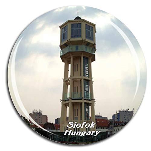 Weekino Siofok Wasserturm Ungarn Kühlschrankmagnet 3D Kristallglas Tourist City Travel Souvenir Collection Geschenk Stark Kühlschrank Aufkleber