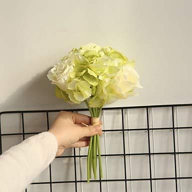 Xqi wangpu Künstliche Blumen 5 Zweig Klassische Hochzeit Hochzeit Blumen Rosen Tischplatte Blume, grün - Kopf-tisch-mittelstücke