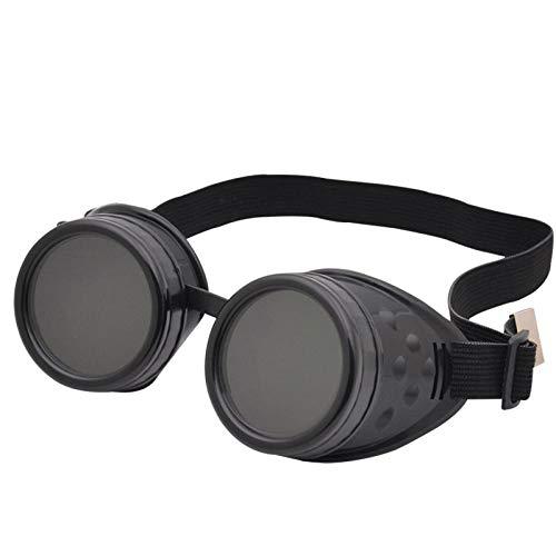 TIANOKLN Steampunk-Brille, Gothic-Retro-Brille, Prom-Party-Brille, mit Brille verziert, schwarz
