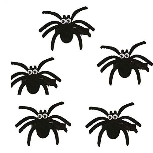 Einfach Kostüm Weird - NUOBESTY Halloween Spinnenform Kinder Haarspange Zubehör für Halloween Kostüm Party, 10St