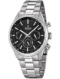 Festina Herren-Armbanduhr Chronograph Quarz Edelstahl F16820/4