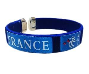 Coupe du Monde 2014 de France de football Supporter bracelet / bracelet. satinŽ. rŽglable