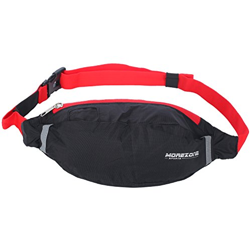 Running Waistpacks, MOREZONE Sport Waist Pack Belt Large Bag For Cell Phones For Running Workout Exercise