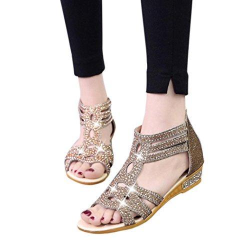 Sandales Femme Sonnena Wedge Sandales Mode Poisson Bouche Creuse Roma Chic Pantoufles Chaussures