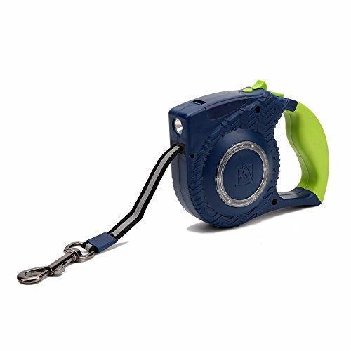 CHANG Hund Retractable Blei, LED-Beleuchtung, One-Button Stretchable Haustier-Trainings-Leine, Night-Reflektierende Sicherheit Hundeleine,Green,4M (Grün Retractable Hundeleine)