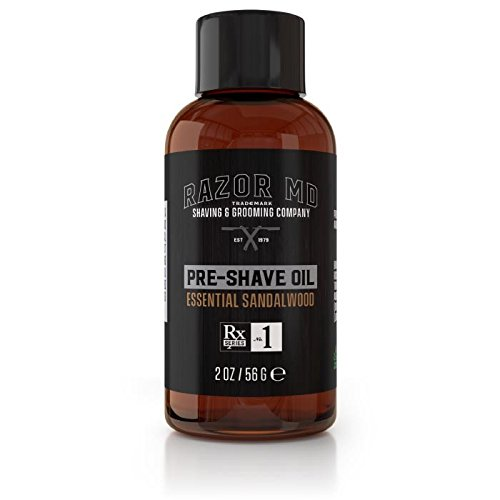 Essential Shave Cream (Pre-Shave Oil - Essential Sandalwood | Paraben Free, All Natural, Made In USA)