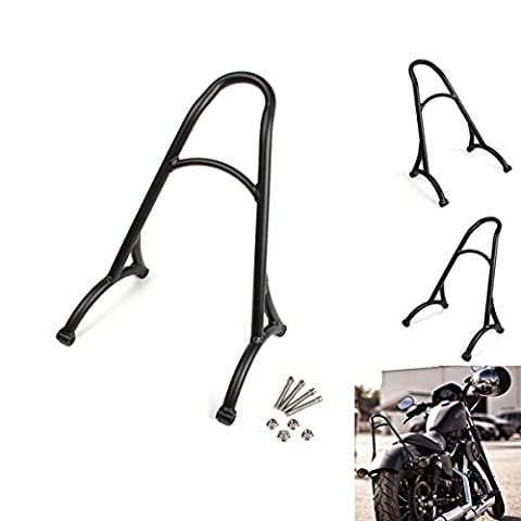 LEAGUE&CO Black Short Sissy Bar Backrest For Harley Sportster Iron 1200 883 XL 04-16