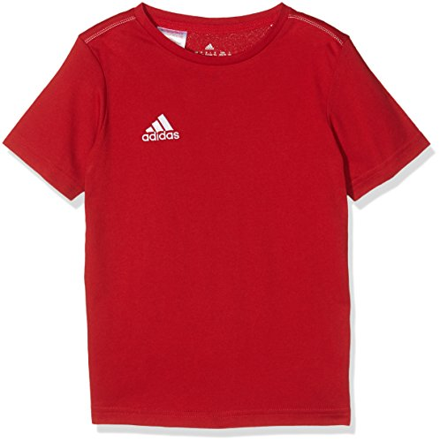 adidas Kinder Trainingsshirt Core T-Shirt, Power Red/White, 164