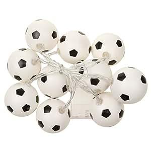 Generic Football Shape String Light Strip Lamp 10-LED Christmas Decor Warm White