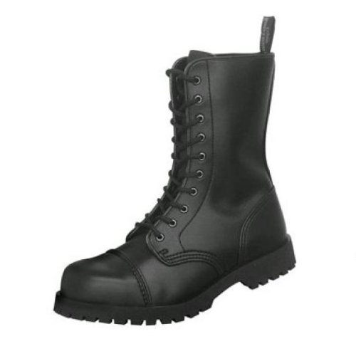 Boots & Braces - 10 Loch Vegetarian Schwarz Größe 43 (UK9)