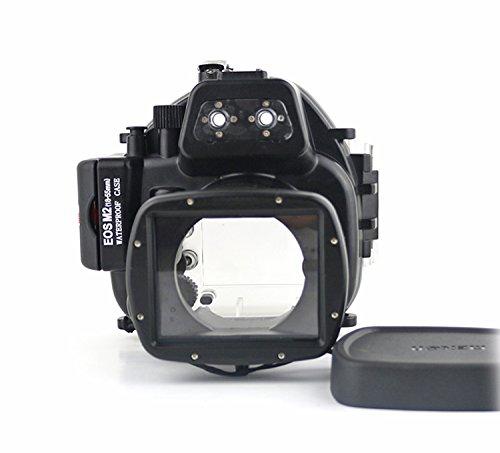 CameraPlus - Unterwasser digitalkamera - Unterwassergehäuse für Canon EOS M2 18-55mm bis 40m