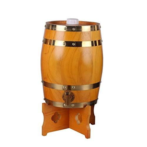 PLDDY Adornos Barriles Verticales de Roble, Vino de Madera, Vino Blanco, barriles de Vino, Vino, barriles Decorativos, Whisky, Cerveza, Vino, borbón, Brandy 4 Colores (Color : B, Tamaño : 15L)