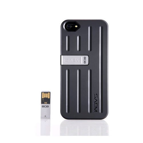 Veho SAEM S7Case mit integrierter 8GB USB Pen Drive für iPhone 5/5S, Schwarz Us Cellular Bluetooth